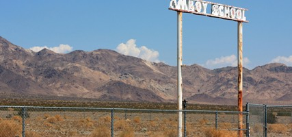 Amboy School Sign, Route 66, California