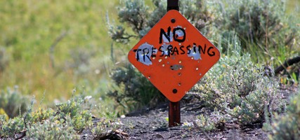 No Trespassing, Castle Ghost Town, Montana
