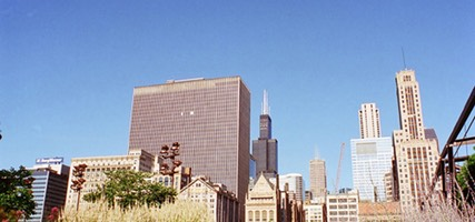Chicago Skyline, viewed from the Chicago River