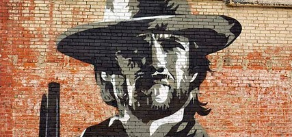 Clint Eastwood Mural, Clarksdale
