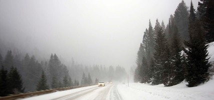 Day 4: Teton Pass Snowstorm, Wyoming to Idaho