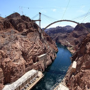 Hoover Dam Bridge Over The Colorado River