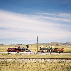 Jupiter and #119 at Golden Spike National Historic Site