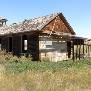 Old Schoolhouse, South of Loma on Highway 87, Montana