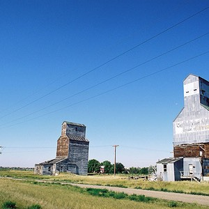 Montana Silos on U.S. Highway 87