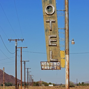 Motel with Free TV, Route 66, California