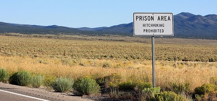 Prison Area Hitchhiking Prohibited, U.S. Route 93, Nevada