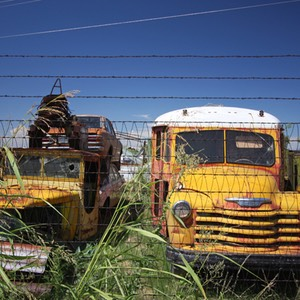 Yellow Bus, Auto Wrecking and Salvage, Roswell, NM