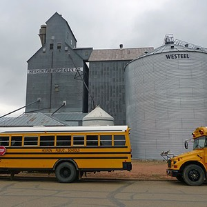 Yellow School Buses, Hebron, North Dakota